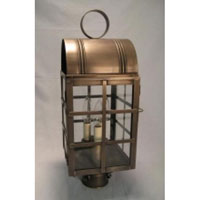 Adams 2 Light 20 inch Antique Brass Post Lantern in Clear Glass, No Chimney, Candelabra